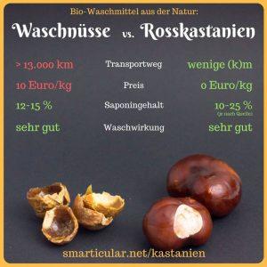 Waschnüsse vs. Rosskastanien