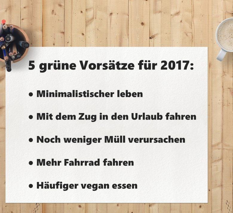 5 grüne Vorsätze für 2017
