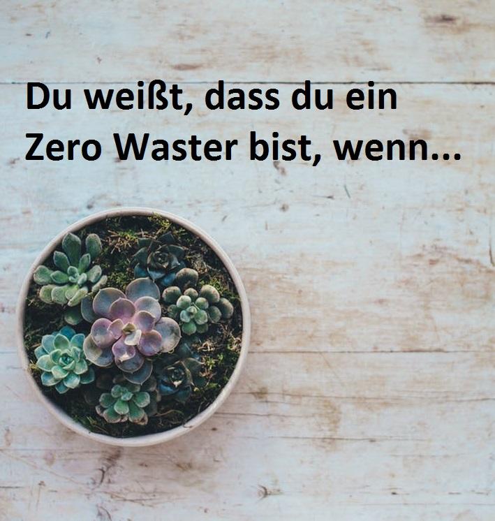 Du weißt, dass du ein Zero Waster bist, wenn…